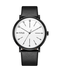 Nordic Tale三針石英皮革腕錶