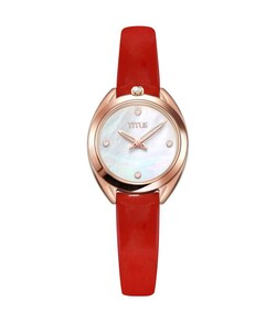 Ring & Knot 2 Hands Quartz Leather Diamond Watch
