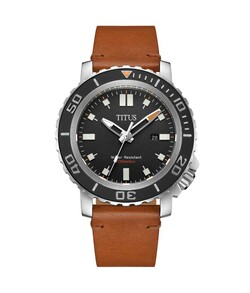 Modernist3HandsDateQuartzLeatherWatch