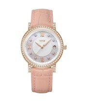 Fair Lady 3 Hands Date Quartz Leather Watch