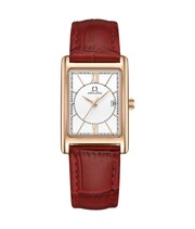 Love Story 3 Hands Date Quartz Leather Watch