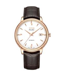 Sonvilier三針日期顯示自動機械皮革腕錶