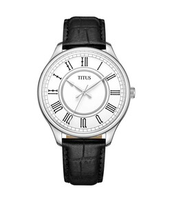 Zeitgeist 3 Hands Quartz Leather Watch