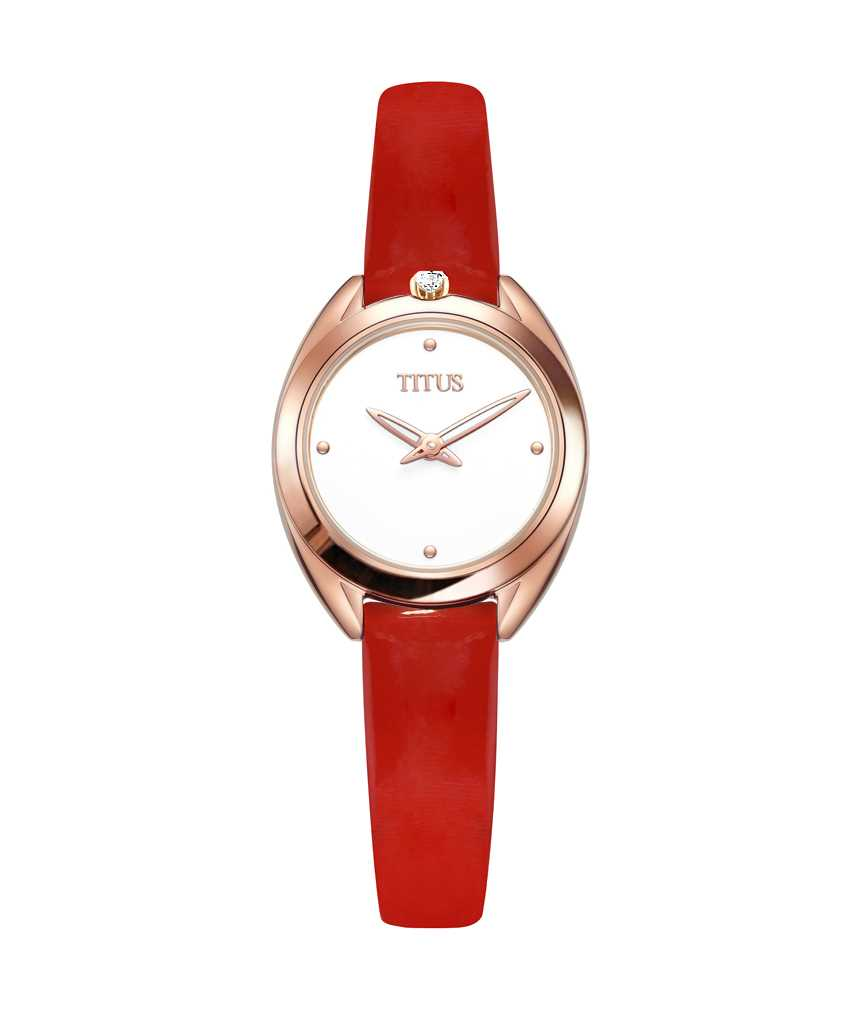 Ring & Knot 2 Hands Quartz Leather Watch