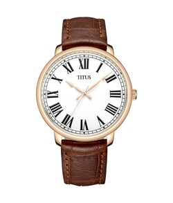 Zeitgeist 3 Hands Quartz Leather Watch