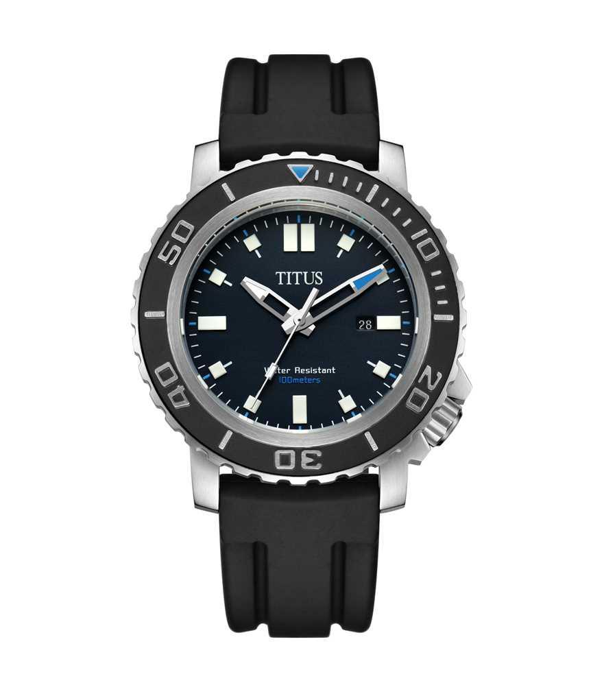 Modernist 3 Hands Date Quartz Silicone Watch