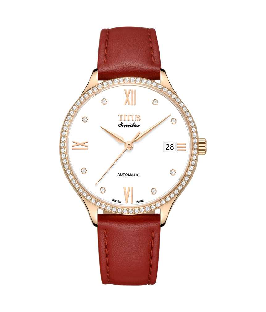 Sonvilier 3 Hands Date Mechanical Leather Watch