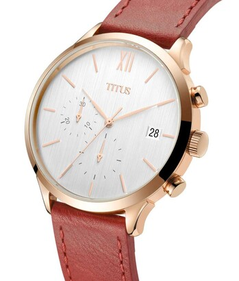 Interlude Chronograph Quartz Leather Watch