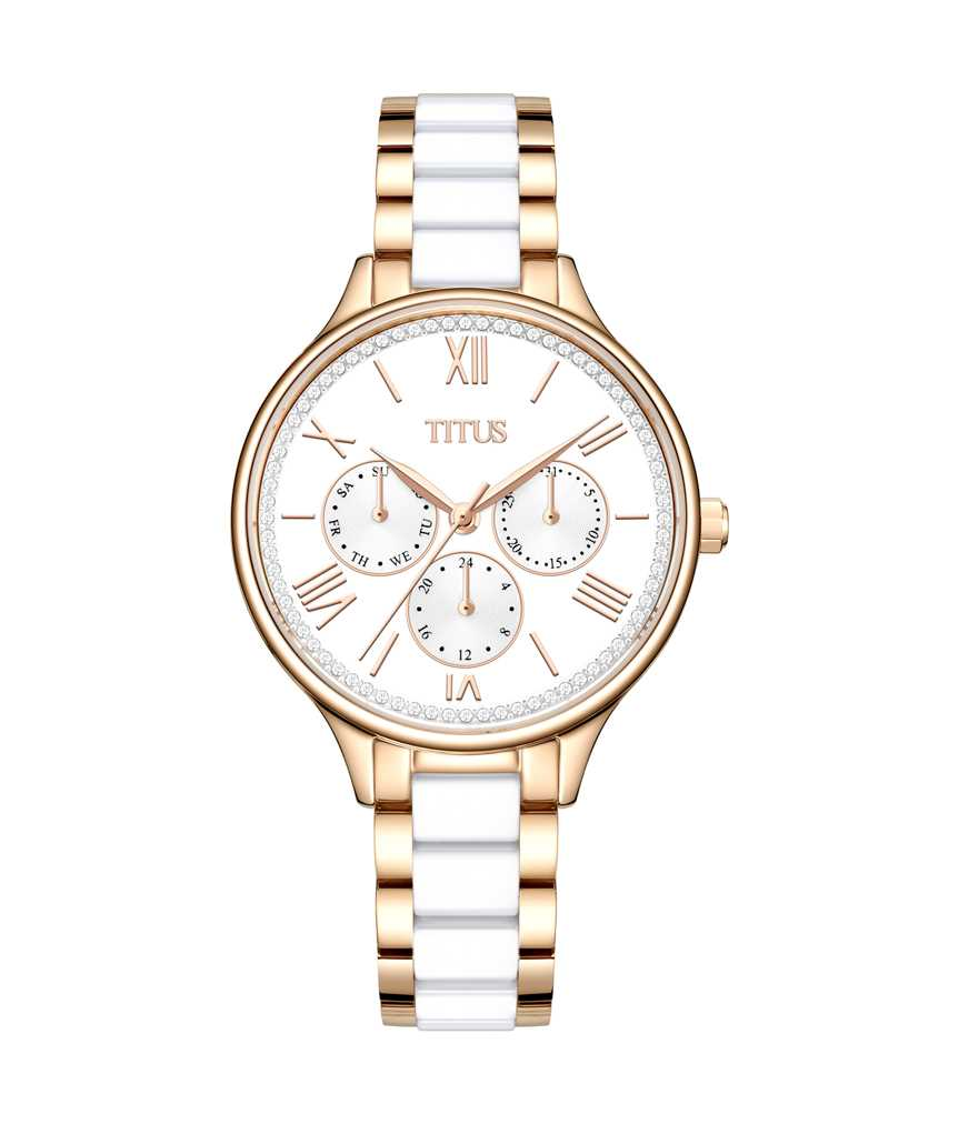 Fashionista Multi-Function Mechanical Stainless Steel Watch