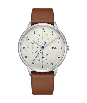 Nordic Tale多功能石英皮革腕錶