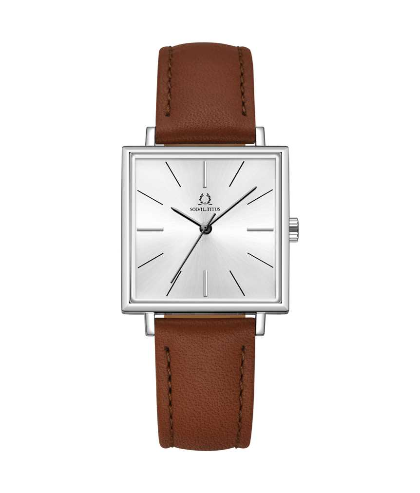 Vintage 3 Hands Quartz Leather Watch