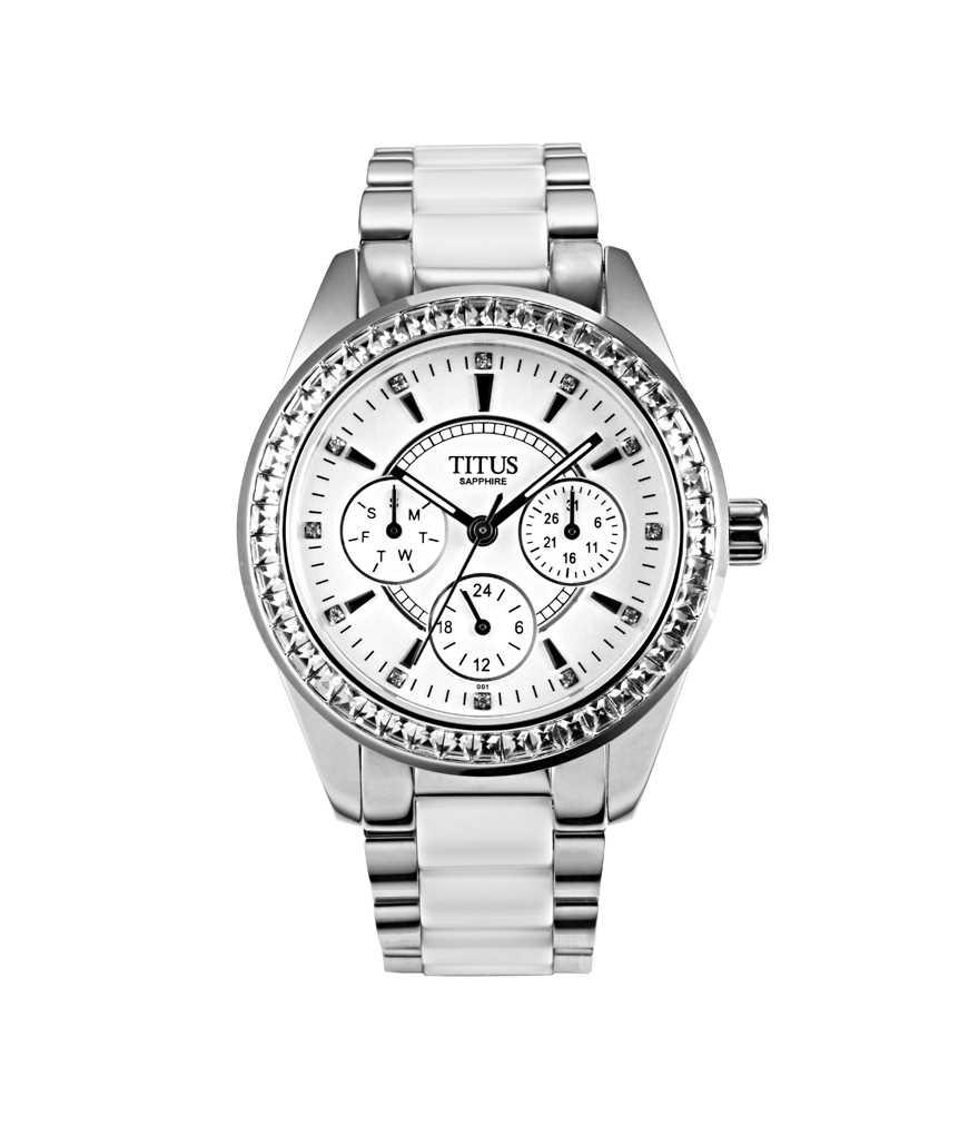 Fair Lady Multi-Function Quartz Stainless Steel & Ceramic Watch