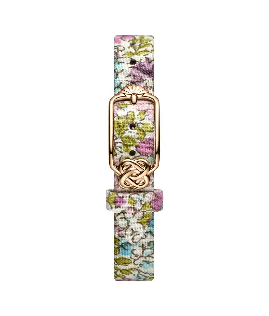 12 mm Purple Blue Floral Japanese Fabric Watch Strap
