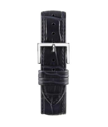 Montella 20 mm Navy Blue Leather Strap