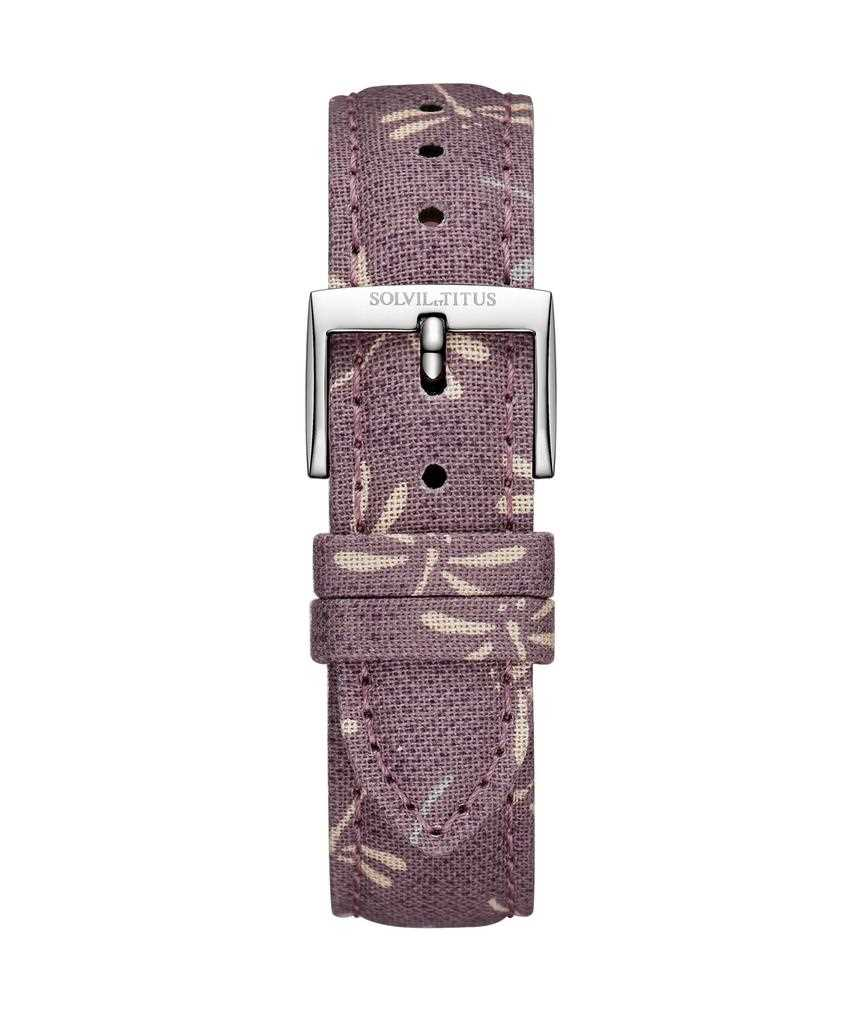 16 mm Grape Purple Japanese Fabric Watch Strap
