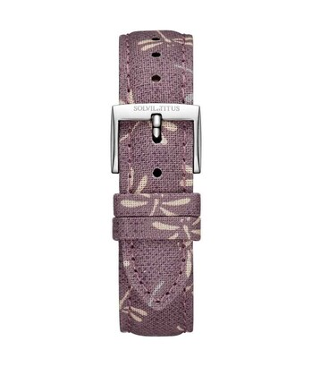 16 mm Grape Purple Japanese Fabric Watch Strap