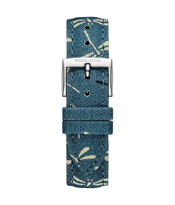 18 mm Dragonfly Indigo Japanese Fabric Watch Strap
