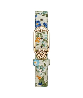 12 mm Yellow Blue Floral Japanese Fabric Watch Strap