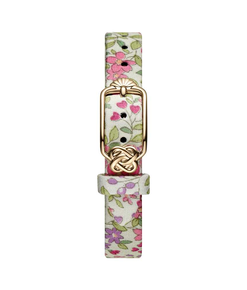 12 mm Pink Floral Japanese Fabric Watch Strap