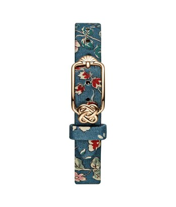 12 mm Prussian Blue Floral Japanese Fabric Watch Strap