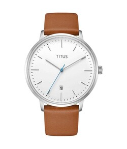Nordic Tale 3 Hands Date Quartz Leather Watch