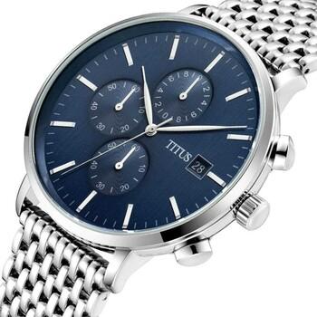 Interlude計時石英不鏽鋼腕錶