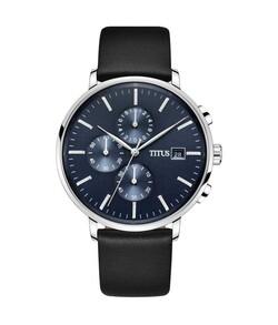 Interlude計時石英皮革腕錶