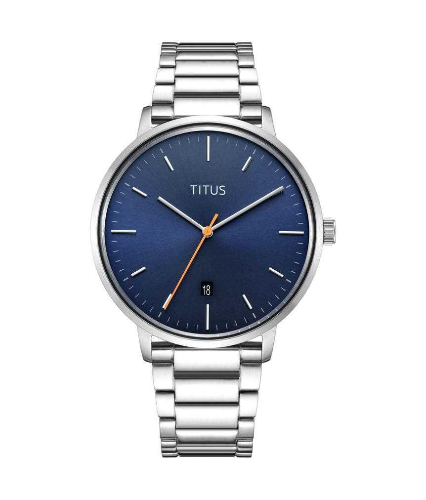 NordicTale三針日期顯示石英不鏽鋼腕錶