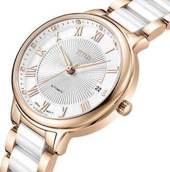 Exquisite 3 Hands Date Mechanical Stainless Steel with Ceramic Watch