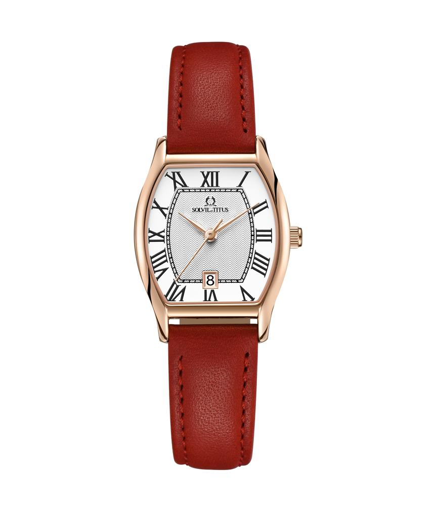 Forever Love 3 Hands Date Quartz Leather Watch
