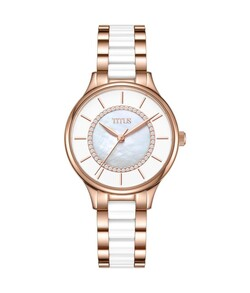 Fashionista 3 Hands Quartz Stainless Steel with Ceramic Watch