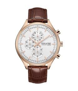 Modernist Chronograph Quartz Leather Watch