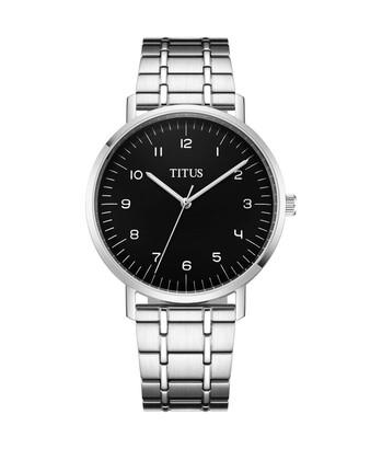 Interlude三針石英不鏽鋼腕錶