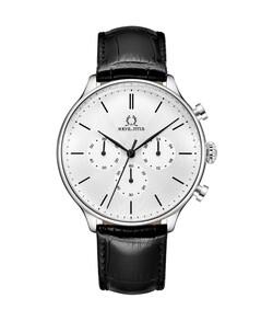 Vintage Chronograph Quartz Leather Watch