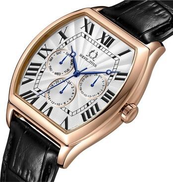 Classicist多功能石英皮革腕錶