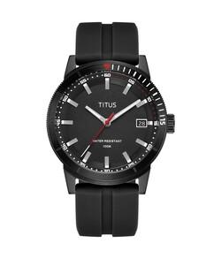 Nordic Tale三針日期顯示石英矽膠腕錶