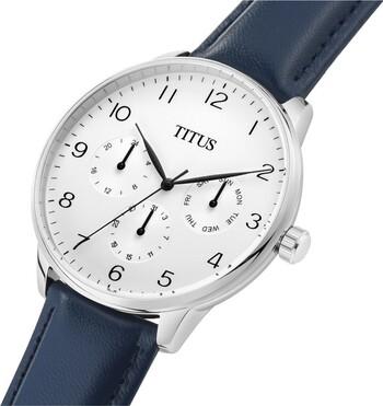 Interlude多功能石英皮革腕錶