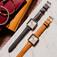 Vintage三針石英皮革腕錶