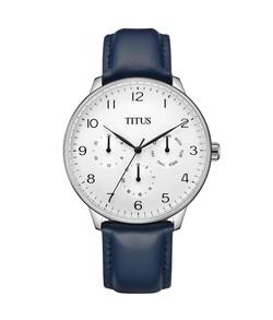 Interlude Multi-Function Quartz Leather Watch