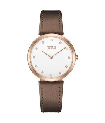 Fashionista兩針石英皮革腕錶