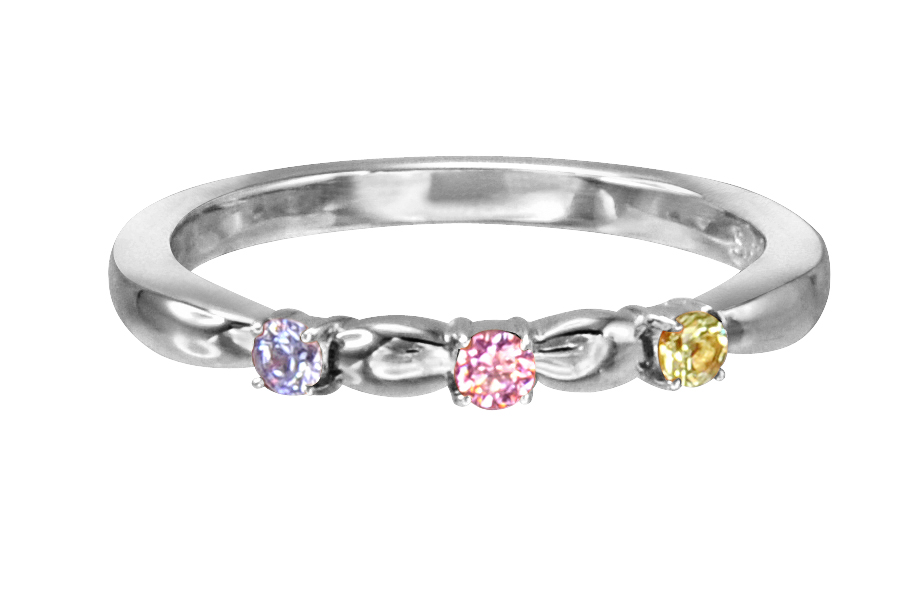 Solvil et Titus 17mm Colorful Crystal Ring, Sterling Silver