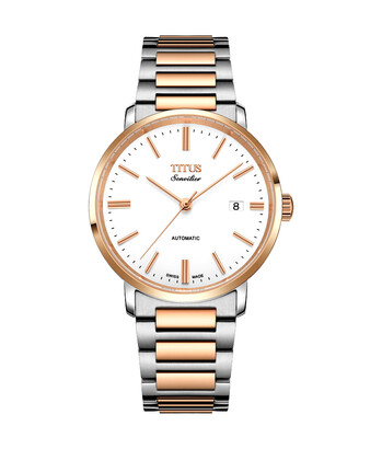 Sonvilier瑞士製三針日期顯示自動機械不鏽鋼腕錶