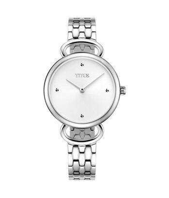 Fair Lady兩針石英不鏽鋼腕錶