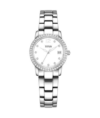 Fair Lady石英不鏽鋼腕錶