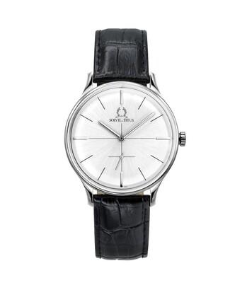 Vintage小秒針石英皮革腕錶