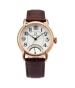 Vintage Dual Time Quartz Leather Watch