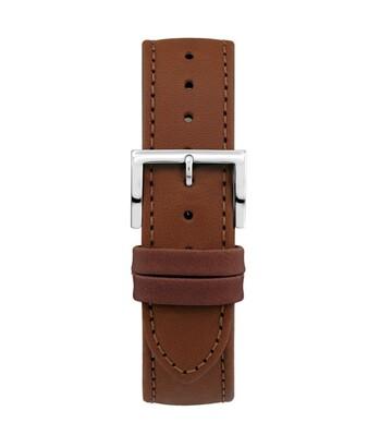 Montella 20 mm Brown Leather Watch Strap