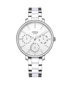 Fashionista Multi-Function Quartz Stainless Steel with Ceramic Watch