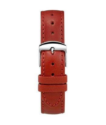 Montella 18 mm Red Leather Watch Strap