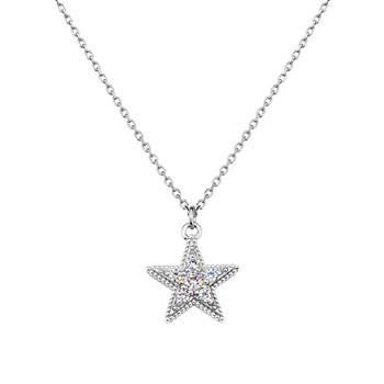 Solvil et Titus Sparkling Star Necklace, Sterling Silver